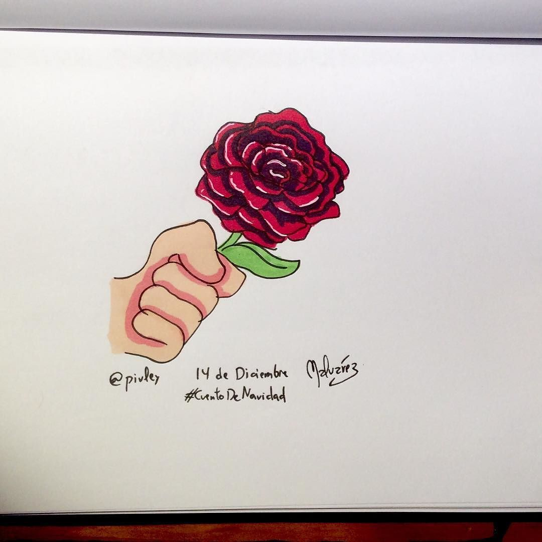 #CuentoDeNavidad 14 (#EscritoDiario 348)  Leer: http://ift.tt/1Qjfc7G  #cuento #Navidad #texto #escrito #amor #rosa #rose #traditional #traditionalart #art #artistsoninstagram