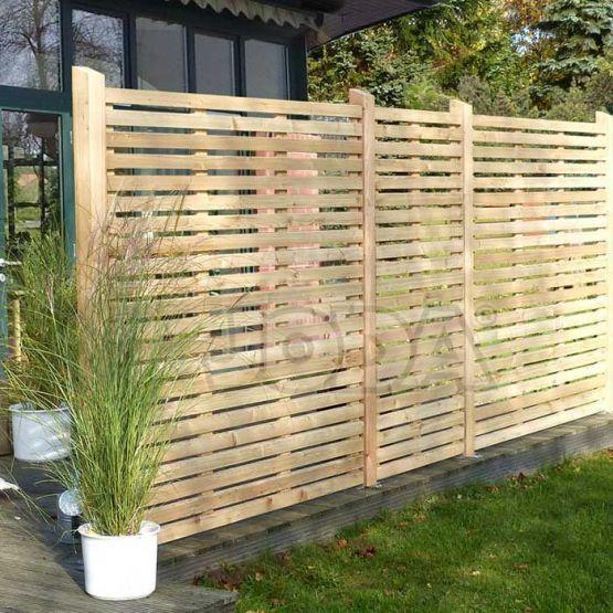 Rhombuszaun Bambus sichtschutz, Gartensichtschutz, Holz