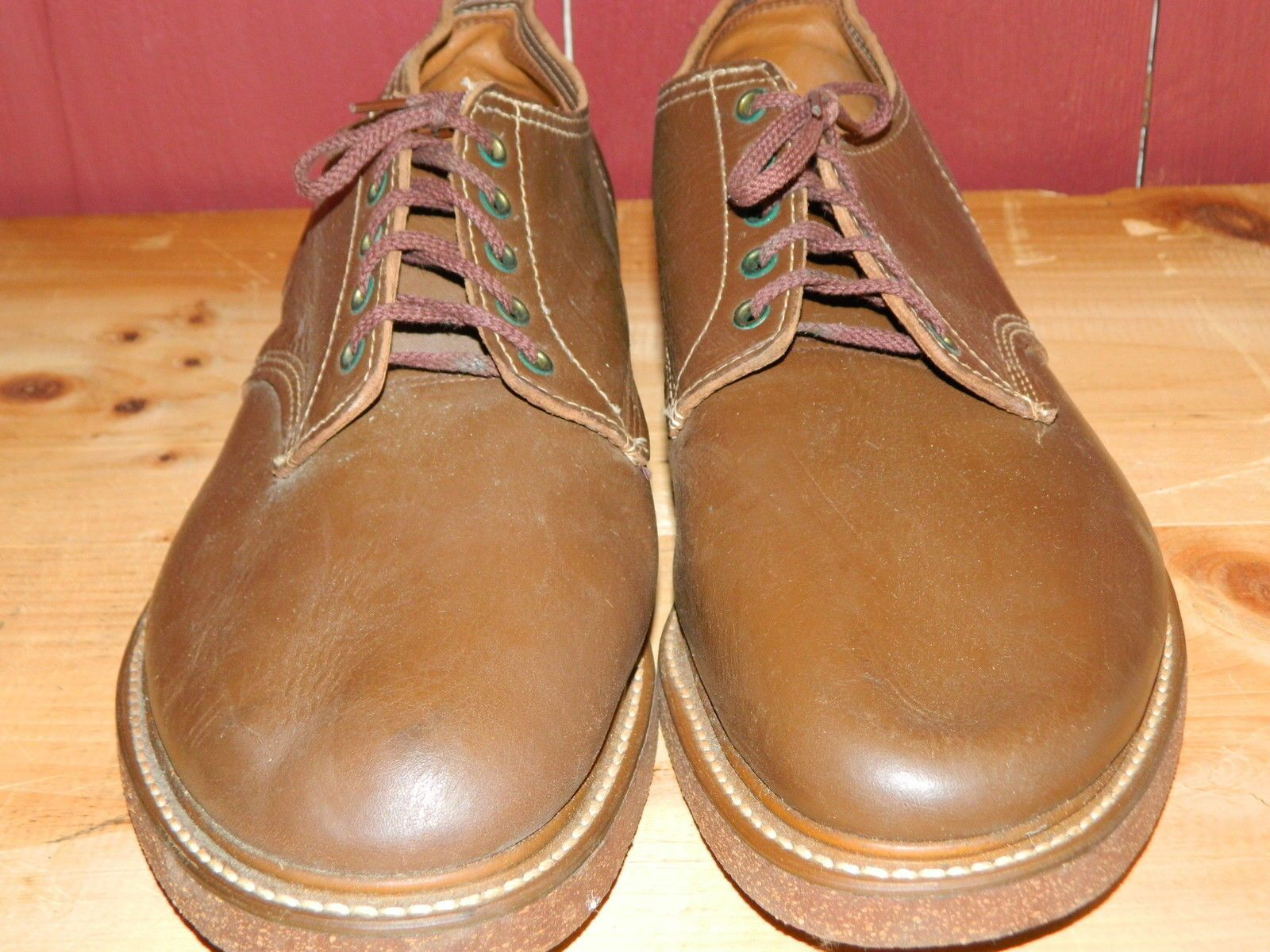 """Origional Laces and B.F.Goodrich Heels. some minor scuffing and scratches due to age and storage. Size 12 with cork sole never been walked on. WE DO NOT CLEAN OR ALTER THEM IN ANY WAY. WIDEST PART OF FOOT IS 4 3/4 """".   eBay!"""