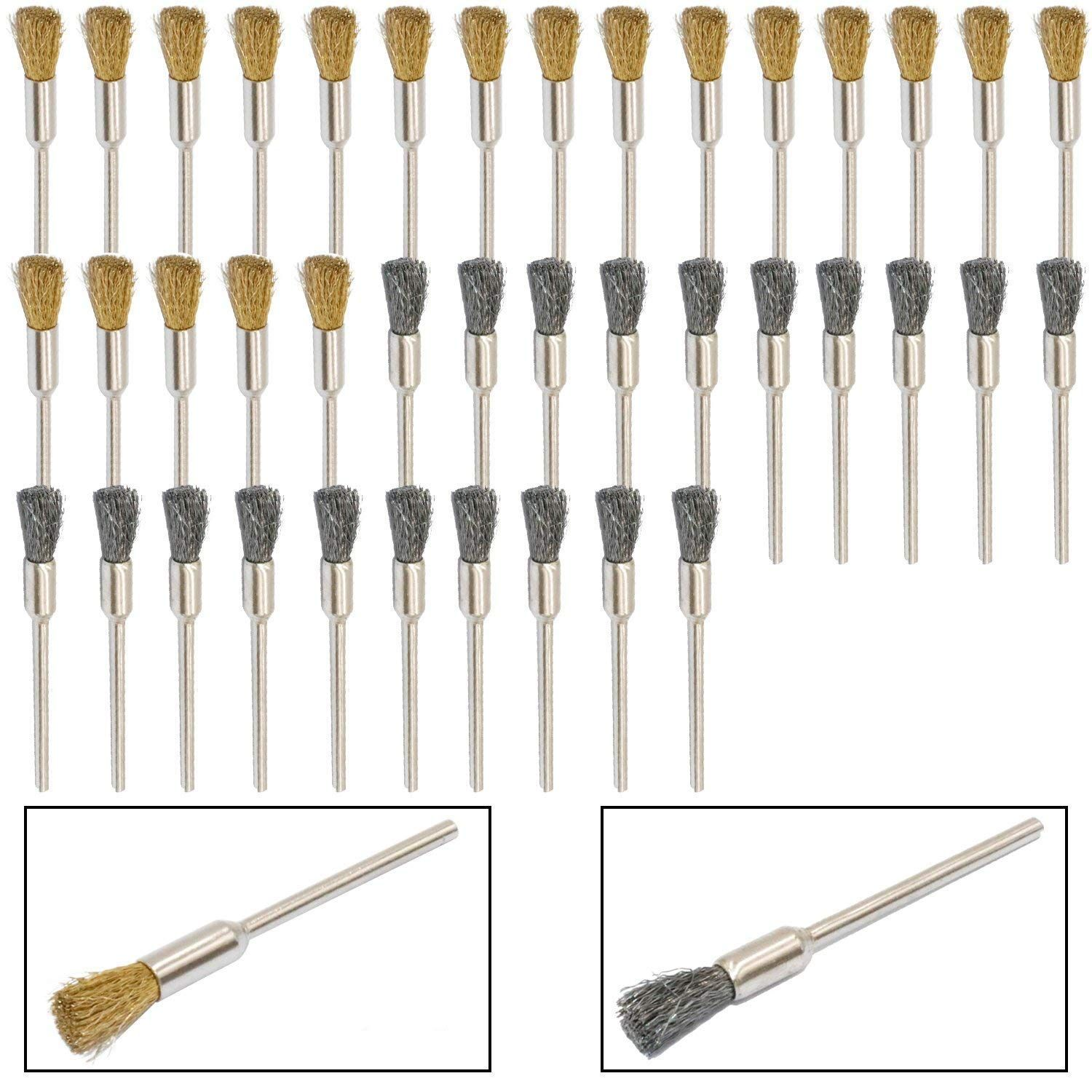 """5 Pack 3//4/"""" Wire Knot End Brush Carbon Steel 1//4/"""" Shank For Die Grinder//Drill"""