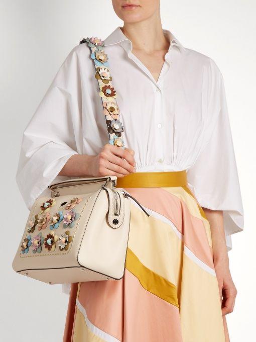 42a590509970 Fendi Strap You floral-appliqué leather bag strap