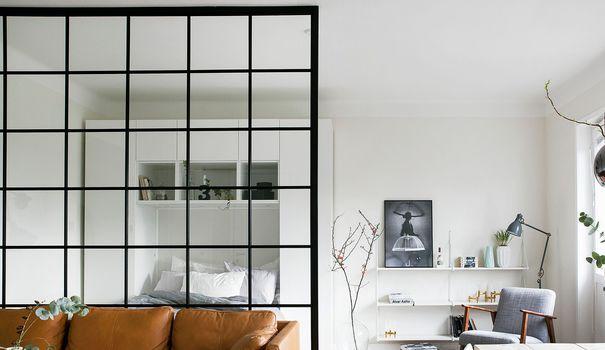Aménager une chambre dans un salon  idées de séparations - faire une chambre dans un salon