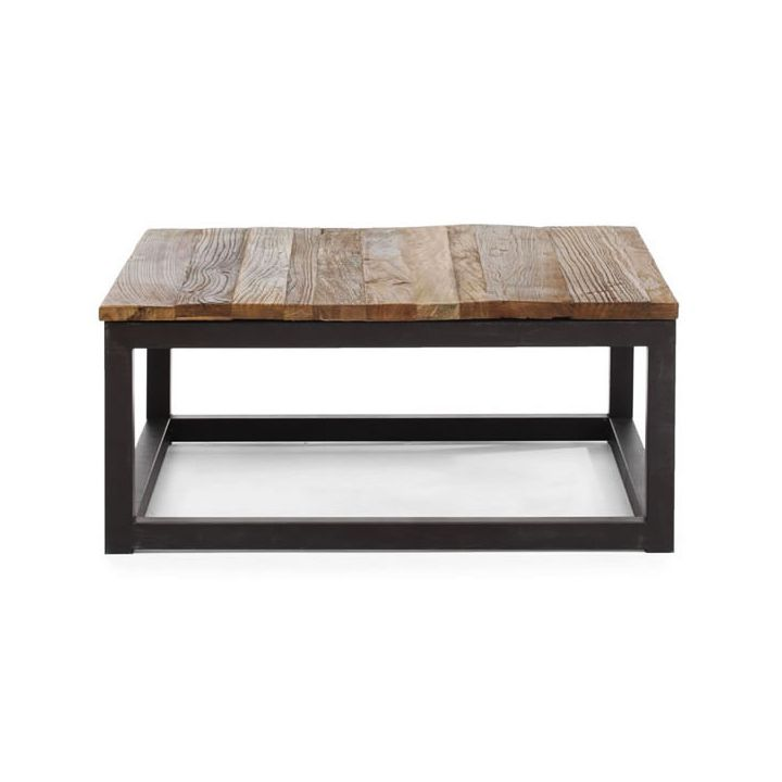 Industrial Chic Coffee Table: Modern Industrial Square Coffee Table