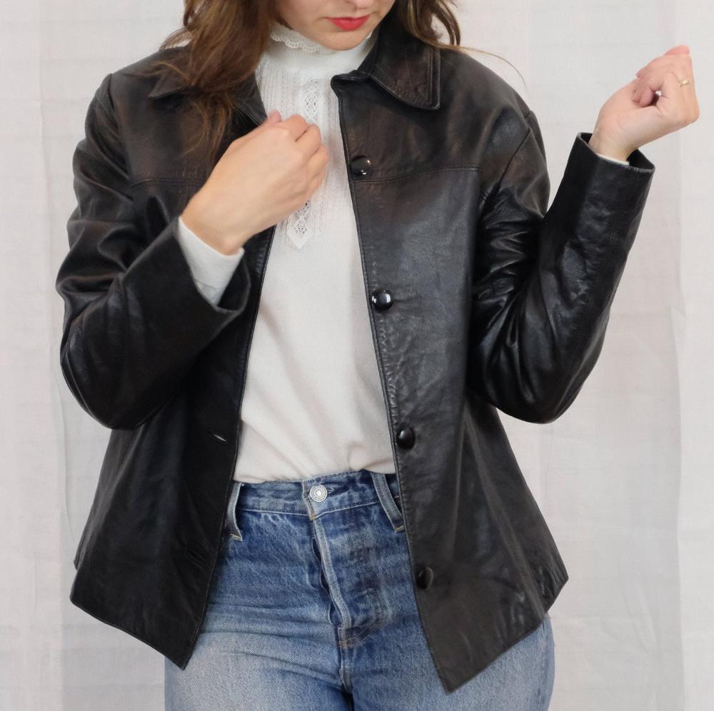 Vintage Leather Jacket Etsy In 2020 Vintage Leather Jacket Leather Jacket Jackets [ 996 x 1000 Pixel ]