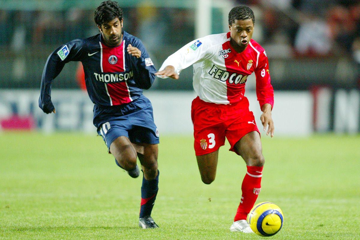 Patrice Evra v Vikash Dhorasoo Monaco v PSG Soccer