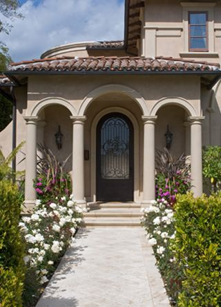 Traditional Tuscan Home this entrance. this entry.. check ... on