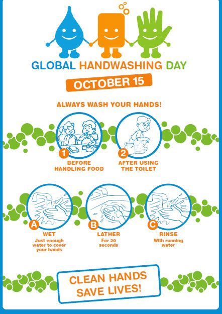 Celebrating World Hand Washing Day 15th October Global