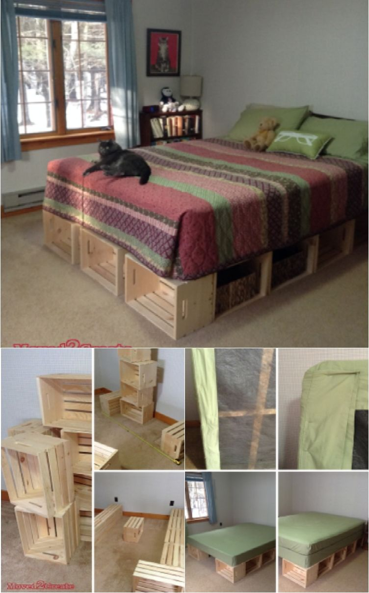 Diy wood platform bed frame  diy bed frames for an affordable new bedroom look  bed frames