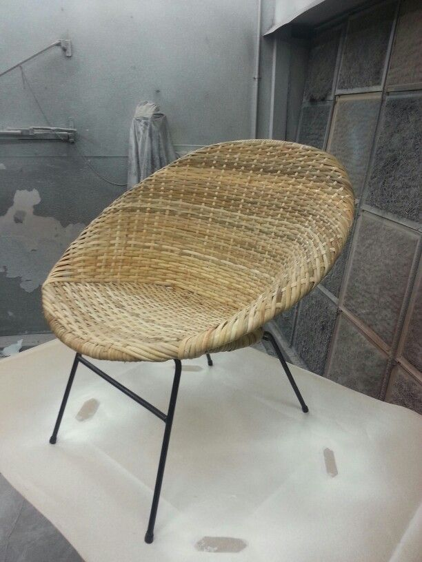 Newly Restored Rattan Saucer Chair. RattanWicker