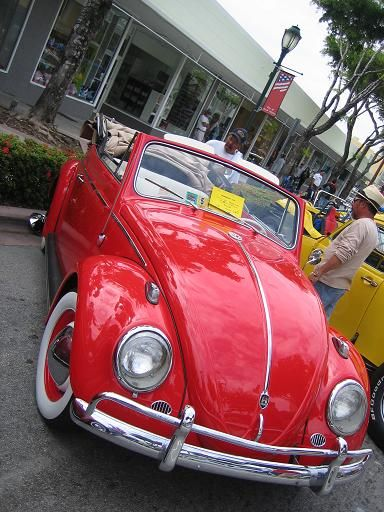 red convertible bug.