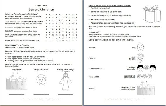 What Is A Christian Printable Bible Worksheet For Kids Childrens