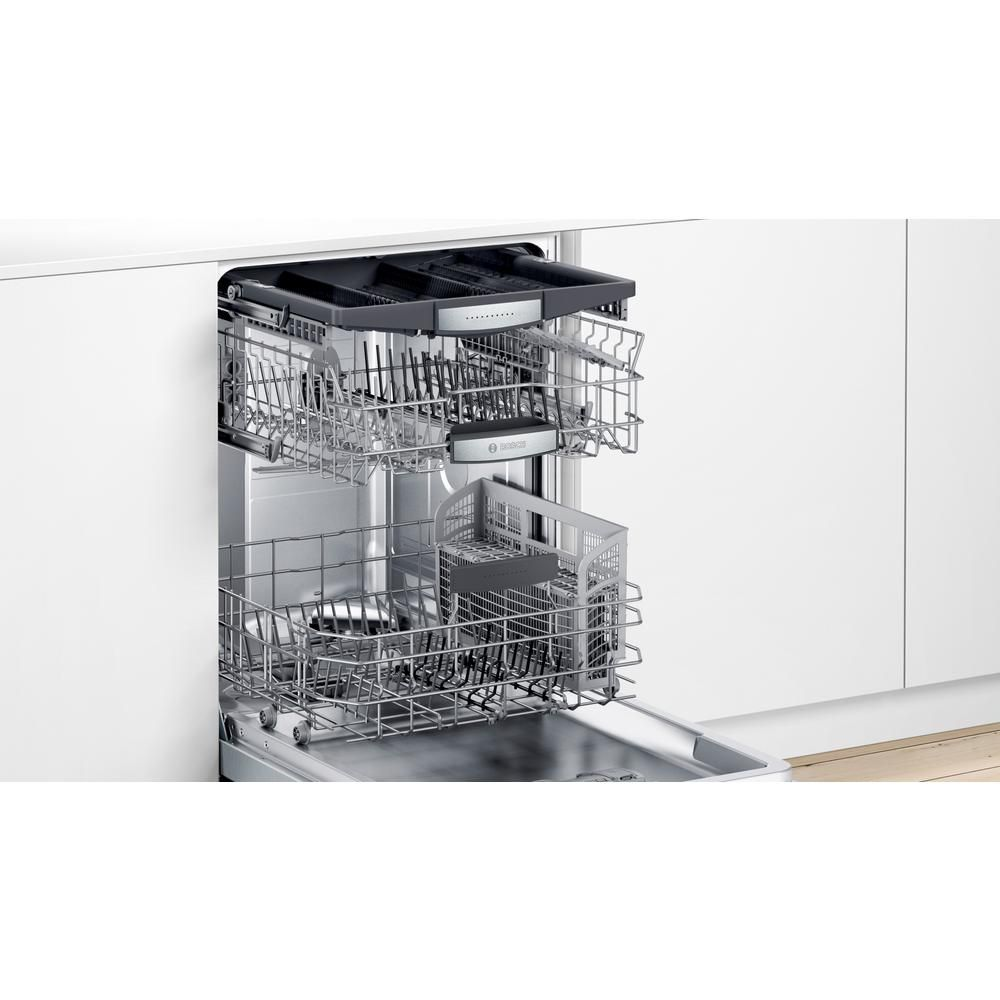 Bosch 800 Series 24 In Stainless Steel Top Control Tall Tub Dishwasher With Stainless Steel Tub Crystaldry 42dba Shxm78z55n The Home Depot Built In Dishwasher Steel Tub Cool Things To Buy