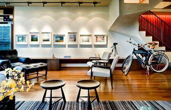 Lar contemporâneo ousa nas cores: reforma de apartamento revela sua estrutura. #décor #decoração #reforma #duplex  http://glo.bo/1Av85Ry