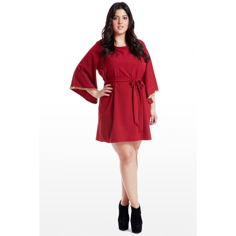 Studded bellsleeve dress my style pinterest sleeved dress