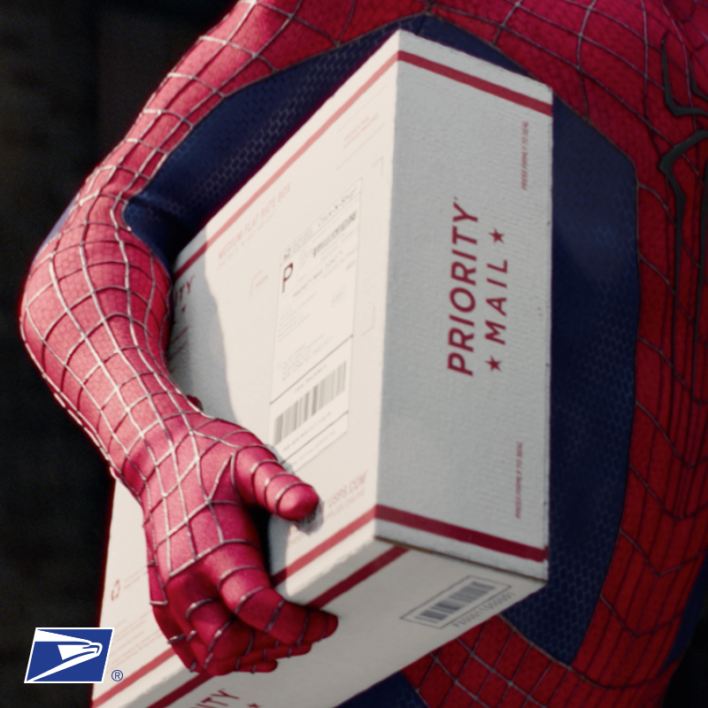 Your next Priority Mail® delivery courtesy of SpiderMan