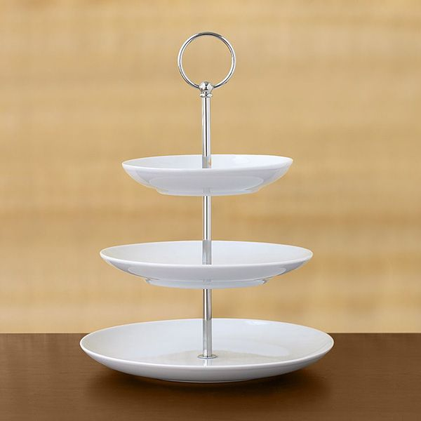 3 Tier Pastry Stand Great White Dessert Server By Pottery Barn Tiered Stand White Tiered Stand Three Tier Stand