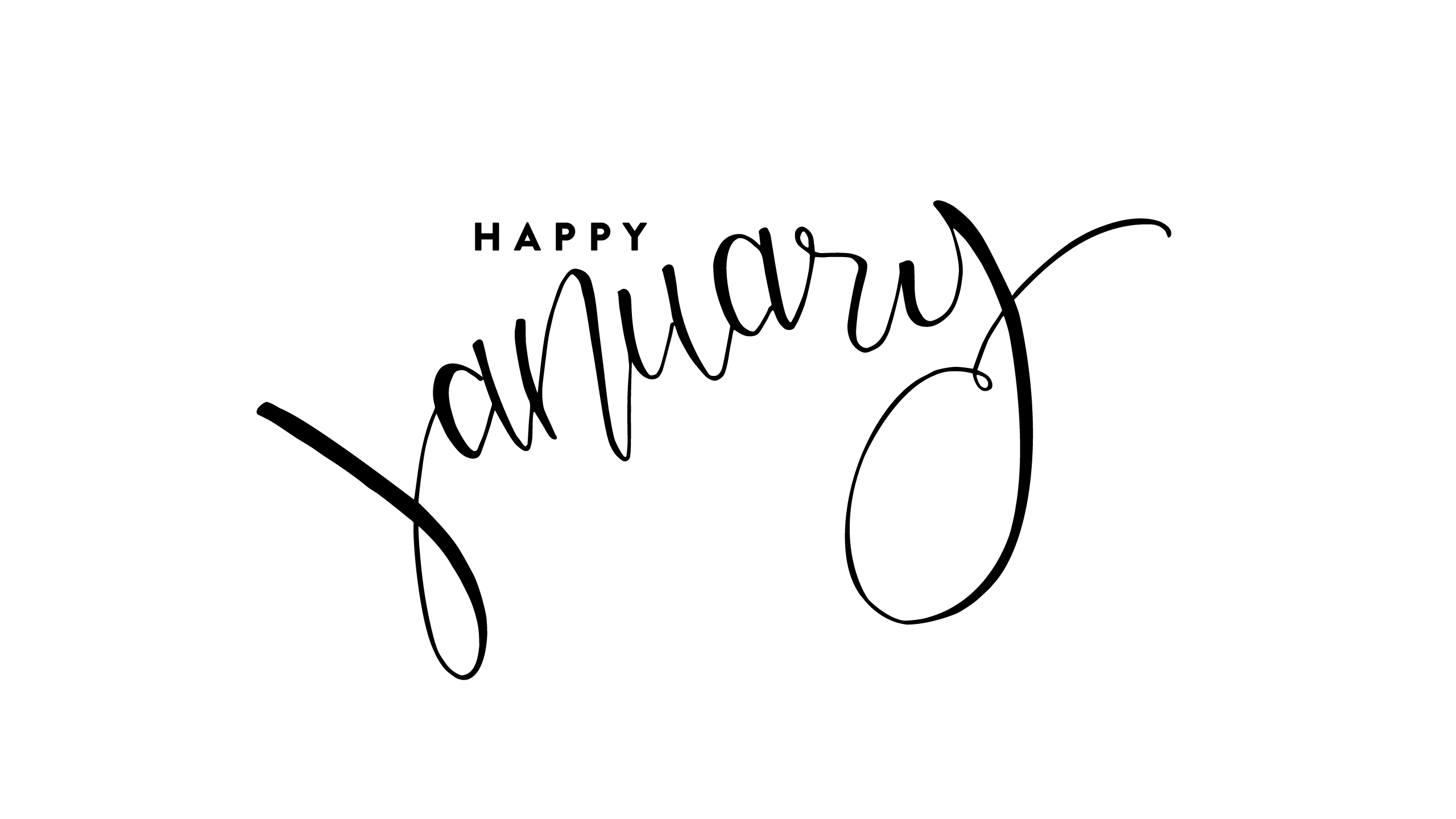 Hello January Images Black And White