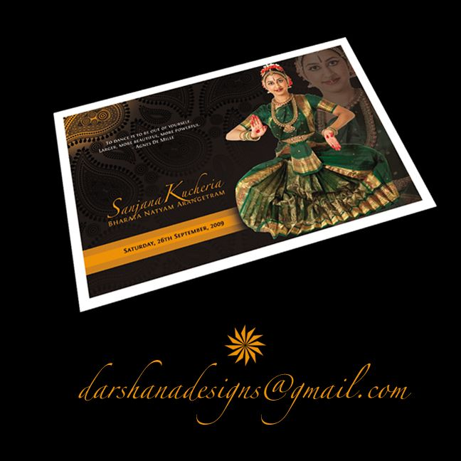 Bharatanatyam, I design Programs and Brochures Invitations Guests - best of invitation card format for griha pravesh