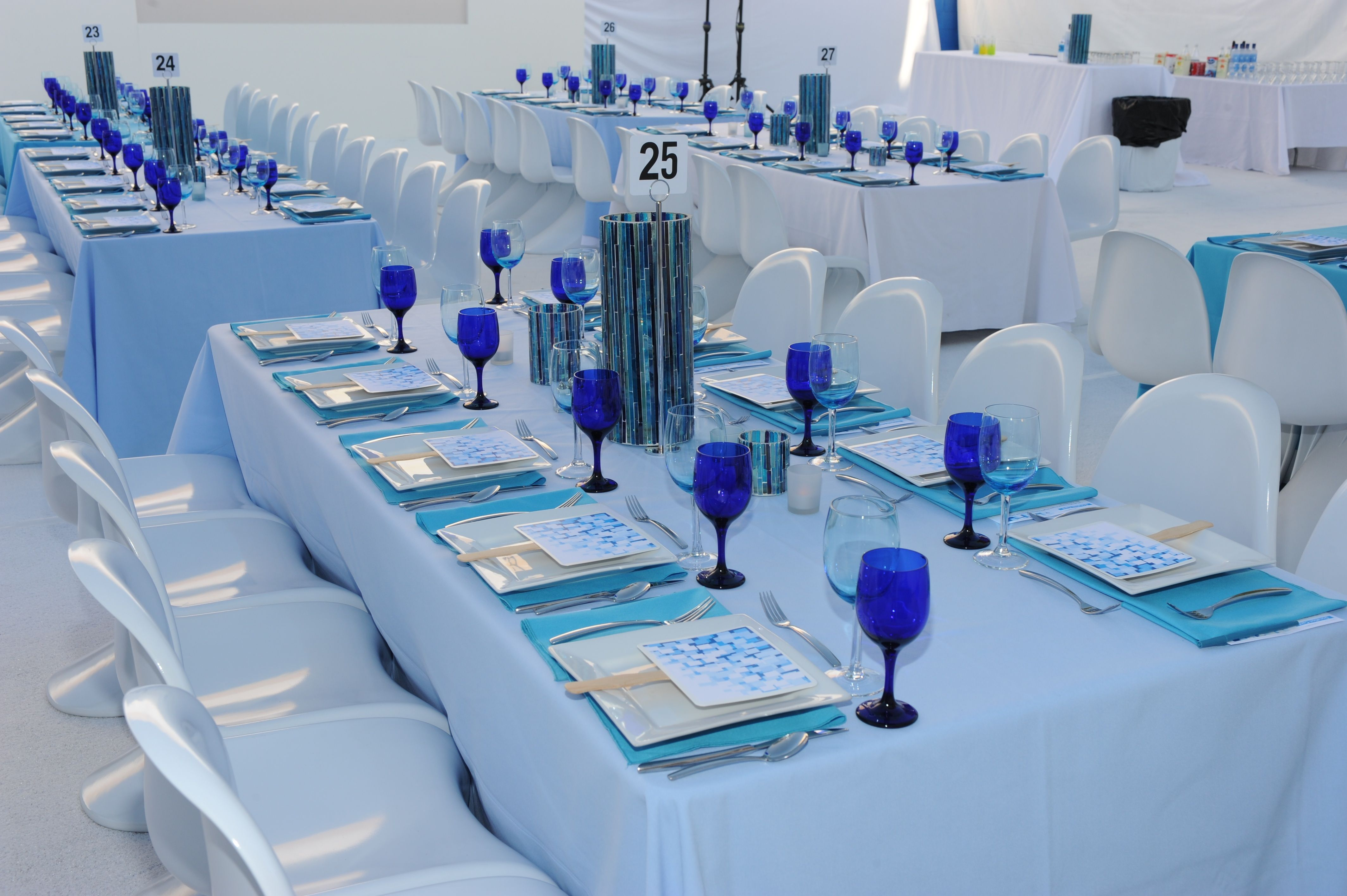 White, Blue and Winter! Table Settings.... Table