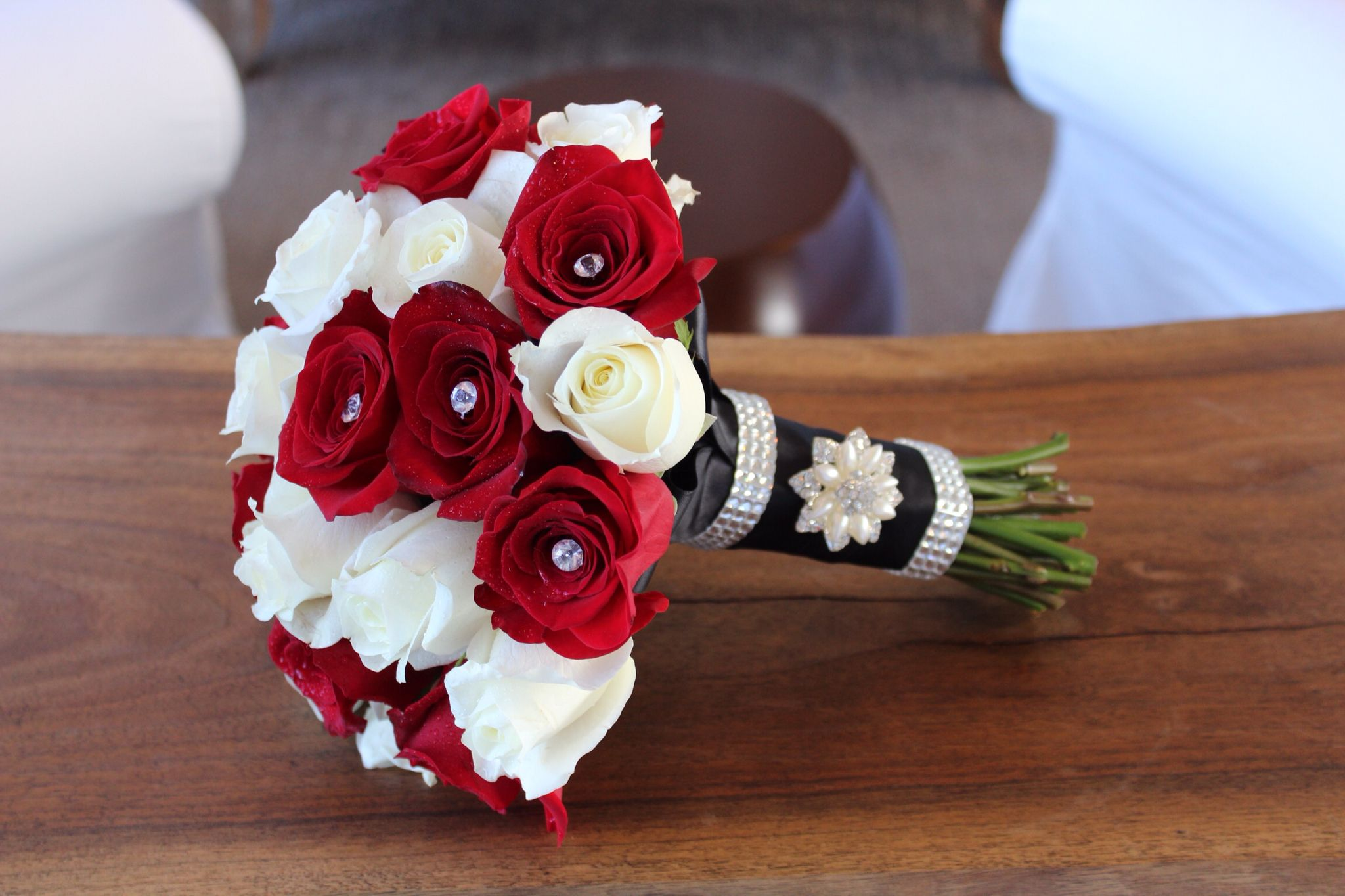 Wedding bouquets red and white roses  Red and white rose bouquet  My bouquets  Pinterest  White rose