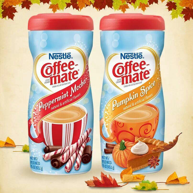Peppermint mocha pumpkin spice coffeemate boisson