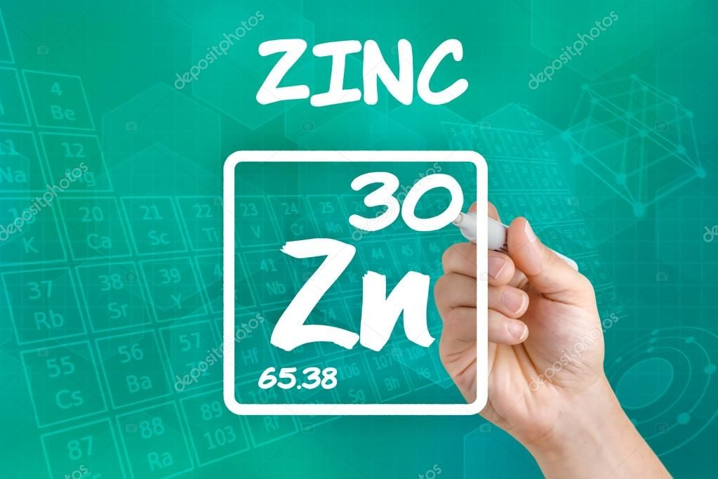 Symbol for the chemical element zinc  Stock Photo