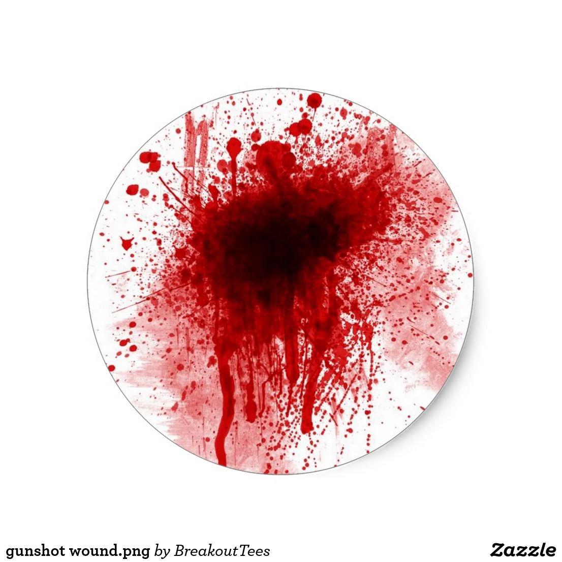 Gunshot Wound Png Classic Round Sticker Zazzle Com In 2021 Gothic Decor Round Stickers Abstract