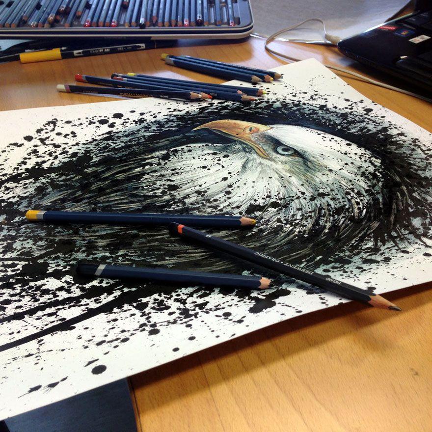 Un artiste créé des œuvres exceptionnelles avec de simples ...