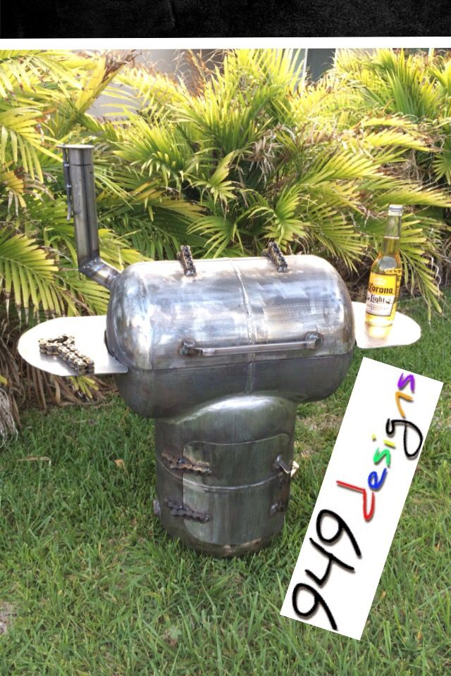 Lil Munchkin Smoker Bbq Made From Two Propane Tanks