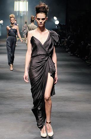 2010 Runway Black One Shoulder Lanvin Dress