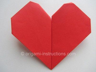 Origami Beating Heart Origami Pinterest Origami Origami