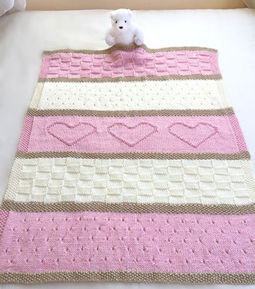 We Like Knitting Baby Heart Blanket Knit Pattern Baby And