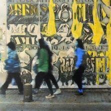 Oeuvre d'art urbaine Mots encreuats de l'artiste catalan Gerard Martinez Costa