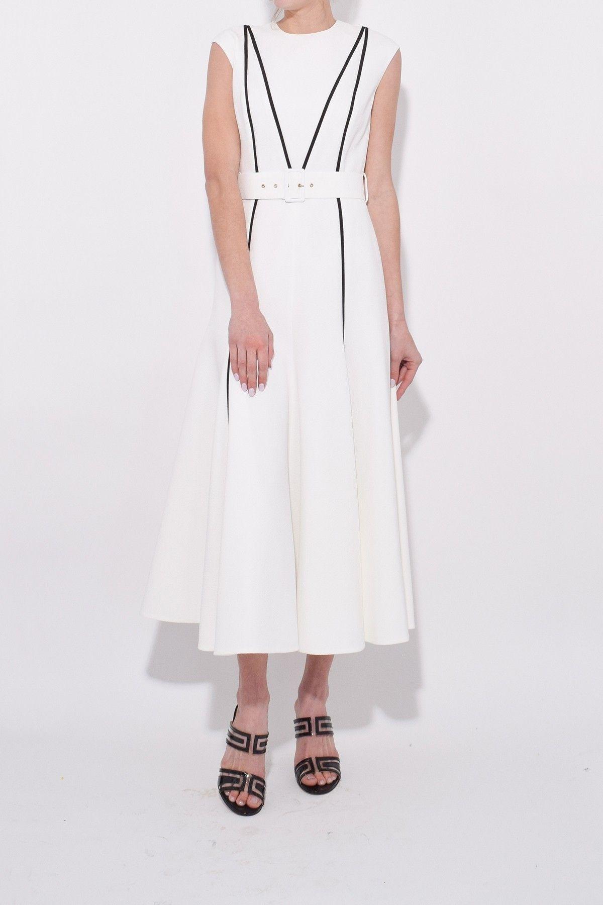 cfa547bbf66 Emilia Wickstead Denvella Midi Dress in White Black in 2019 ...