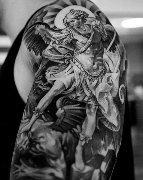 ce71a451c26f8 100 Guardian Angel Tattoos For Men - Spiritual Ink Designs | Full ...