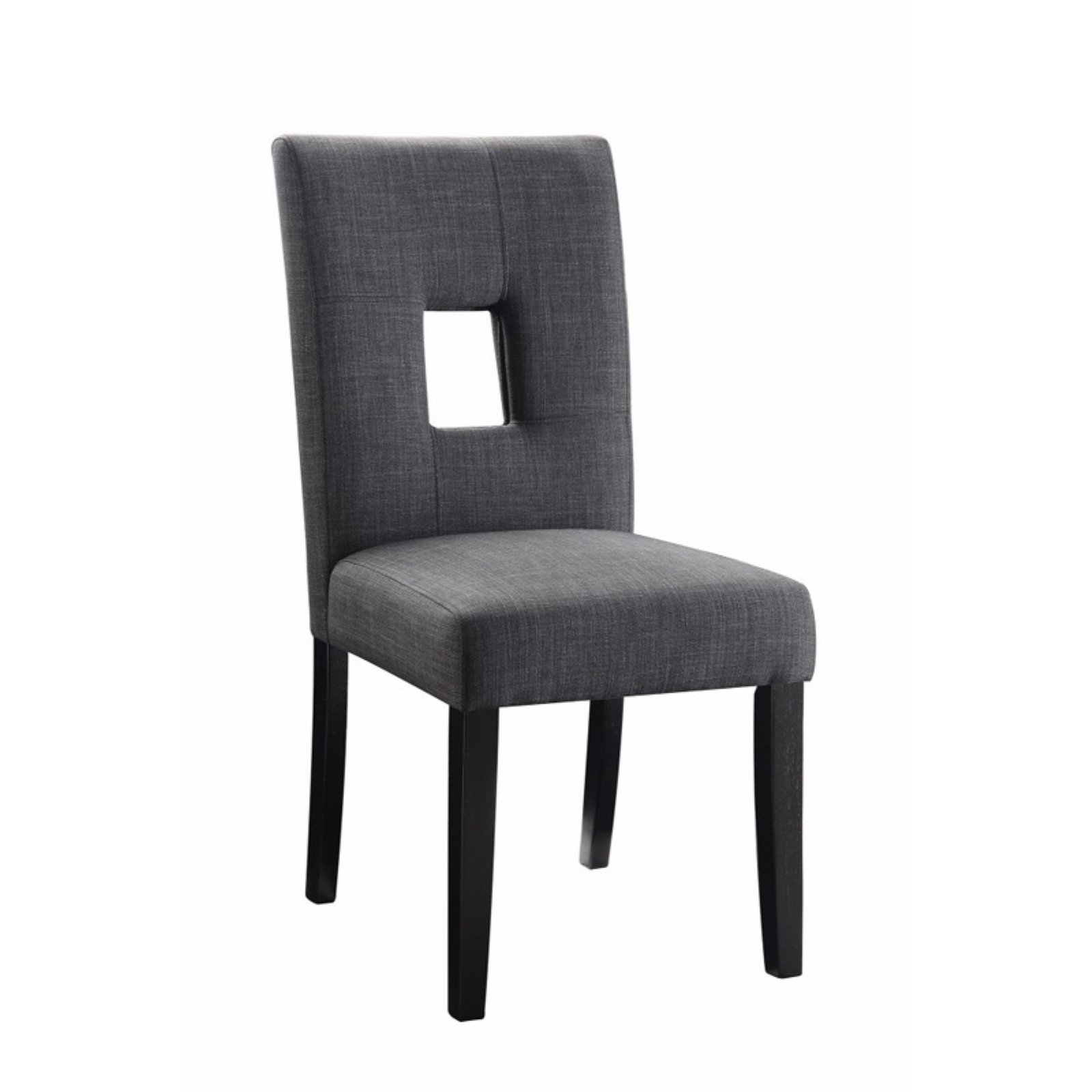 Benzara Keyhole Dining Side Chair Set Of 2 Upholstered Dining