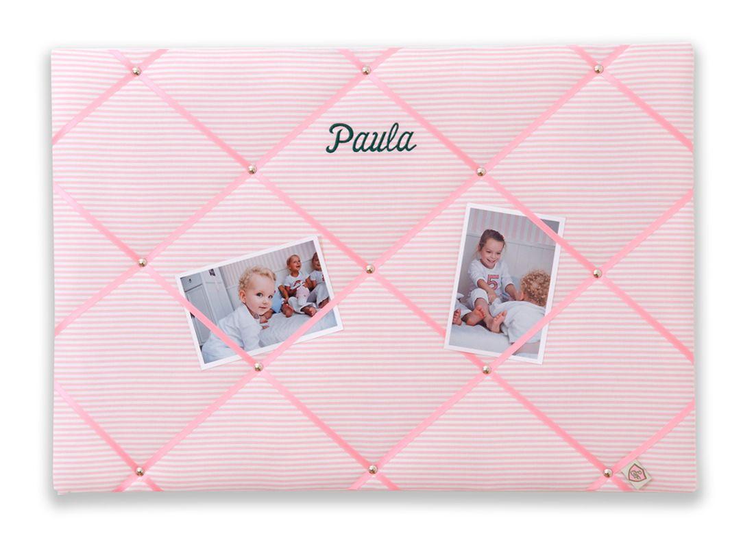 Memoboard Kinderzimmer ~ Memoboard mit namen streifen rosa 45x65cm memoboard rosa und