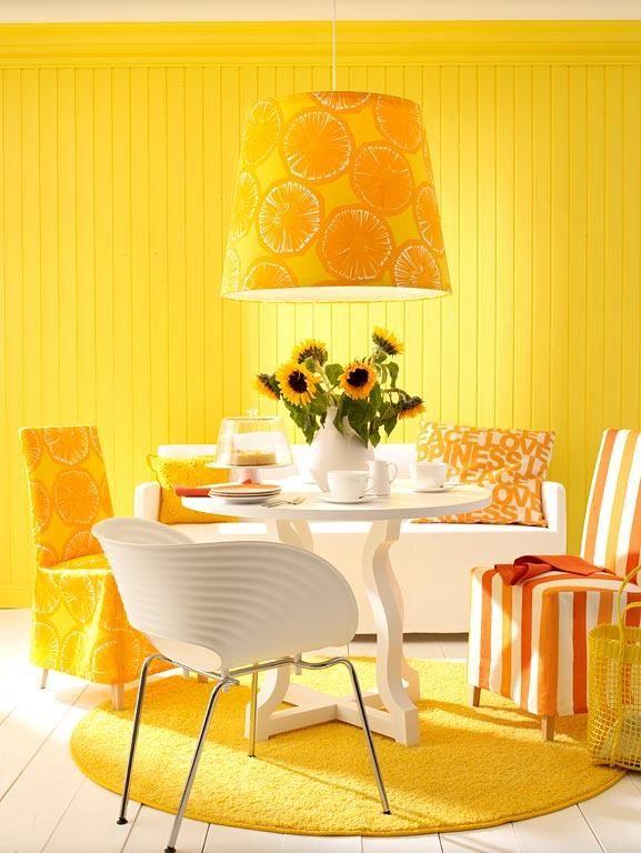 Wohnen mit Farben - Wandfarben in kräftigen Farben Sommerliches - wandfarben fr esszimmer