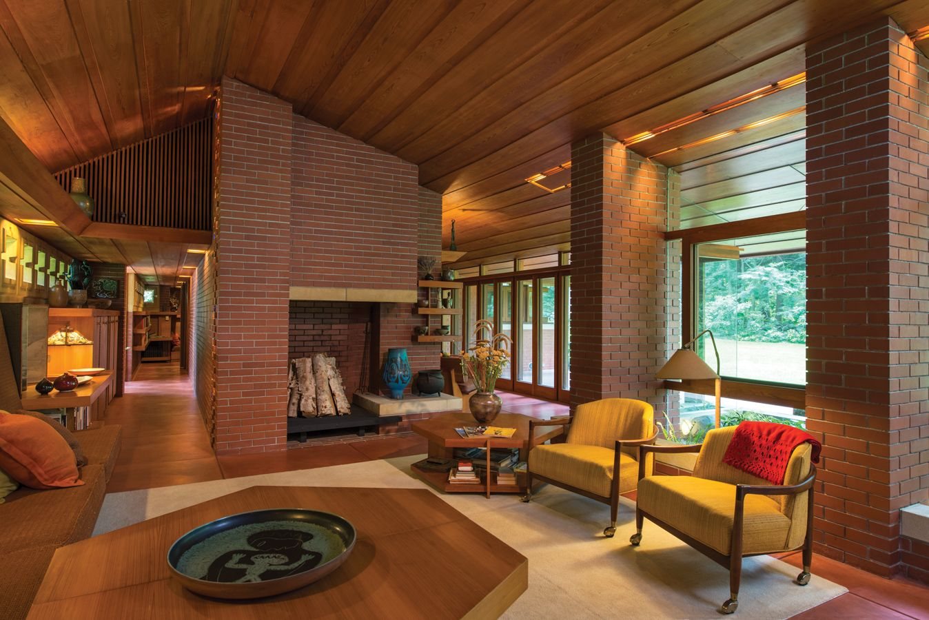 An architectural work of art new hampshire home may - Frank lloyd wright house interiors ...