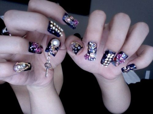 Michelle Phan S Tim Burton Inspired Nails