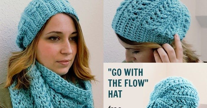 Go with the Flow Hat - Free Crochet Pattern | Stricken und Häkeln