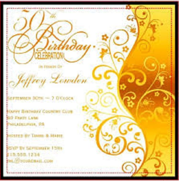 50th birthday invitation borders free buick 50th birthday