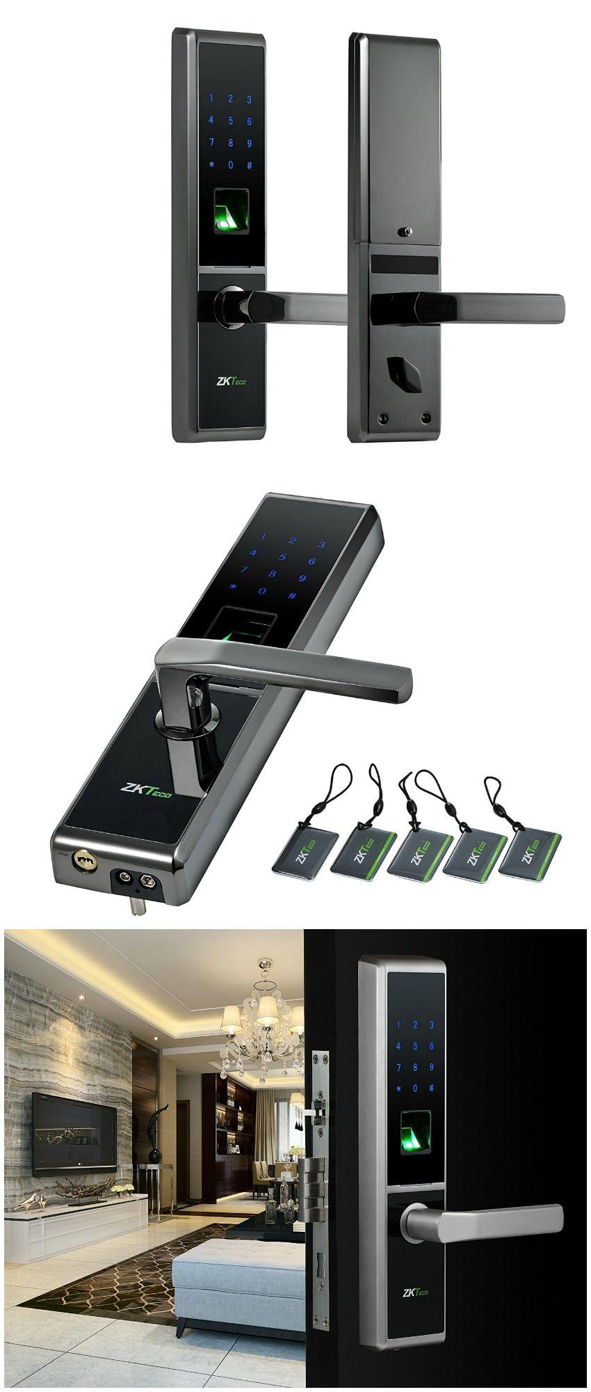 Keypad Biometric Fingerprint Door Lock Use Fingerprint Keypad Rfid Tag Or Key To Unlock Your Choice Affili Smart Home Automation Home Upgrades Home Tech