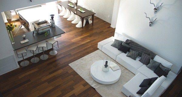 Offene Küche Wohnzimmer Trennen. Einrichtungsideen Für Offene ... Offene Kuche Wohnzimmer