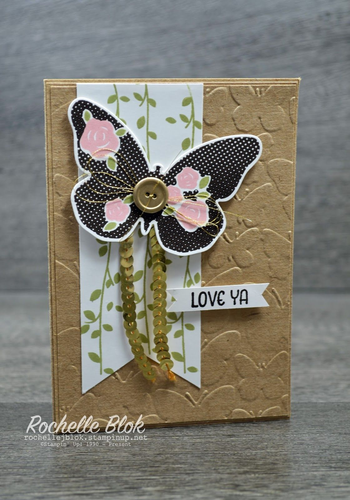 The Stamping Blok - Rochelle Blok - Early Espresso Floral Wings