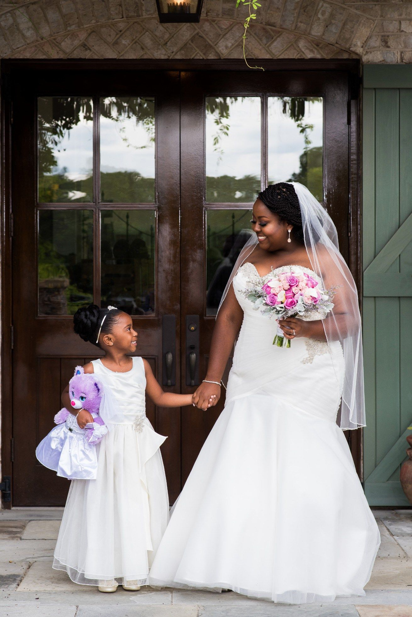 Kernersville nc wedding with garden style african american