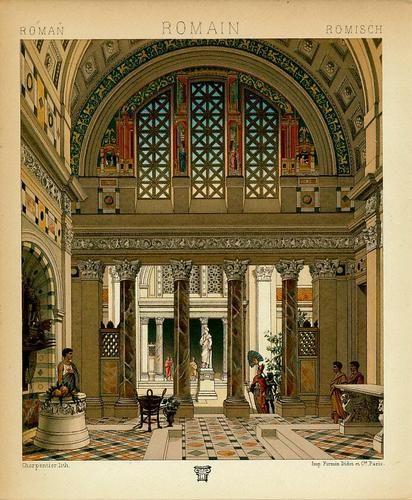 Beautiful interior of roman architecture beautiful for Interior design roma