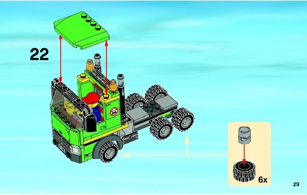 City Excavator Transporter Lego 4203 Cool Lego Creations Cool Lego Lego