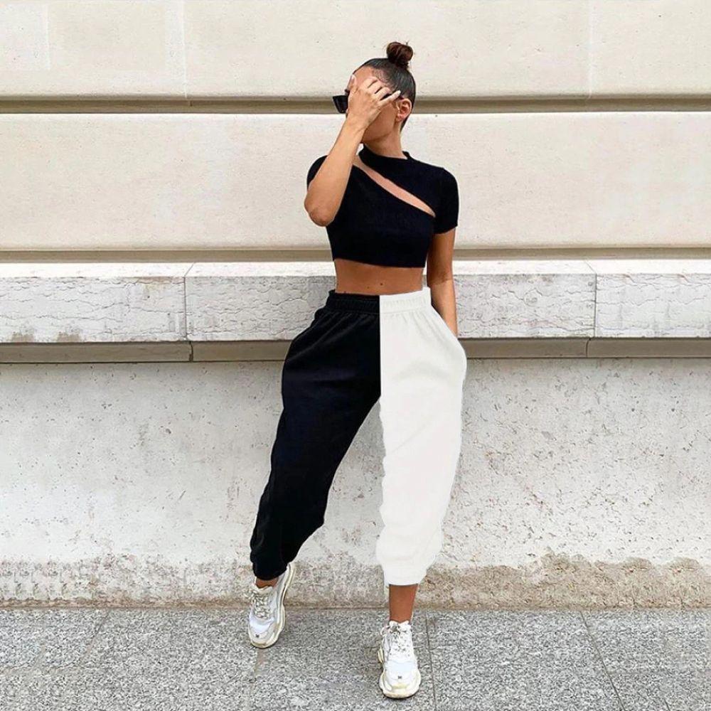 Pantalones De Cintura Alta Price 23 10 Free Shipping Hashtag1 Moda De Ropa Ropa Streetwear Ropa Fitness Mujer
