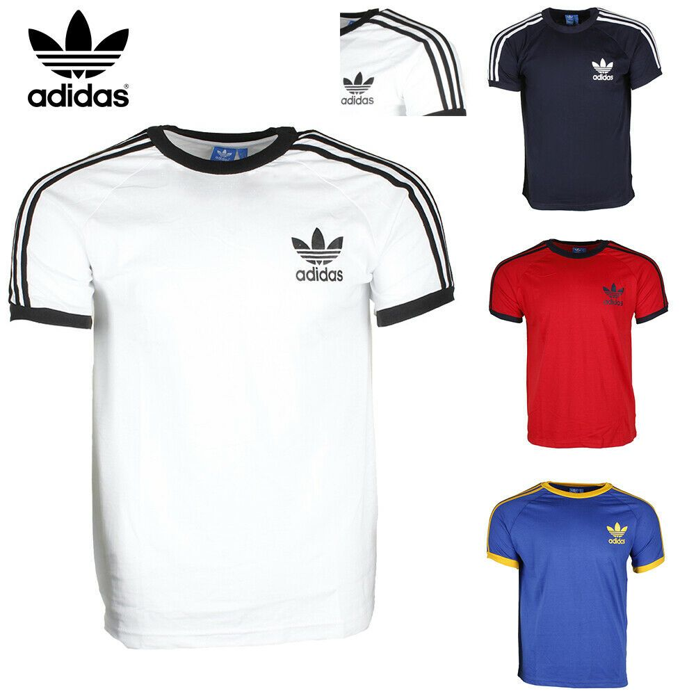 Adidas Men's Original Short Sleeve 3 Stripe Essential